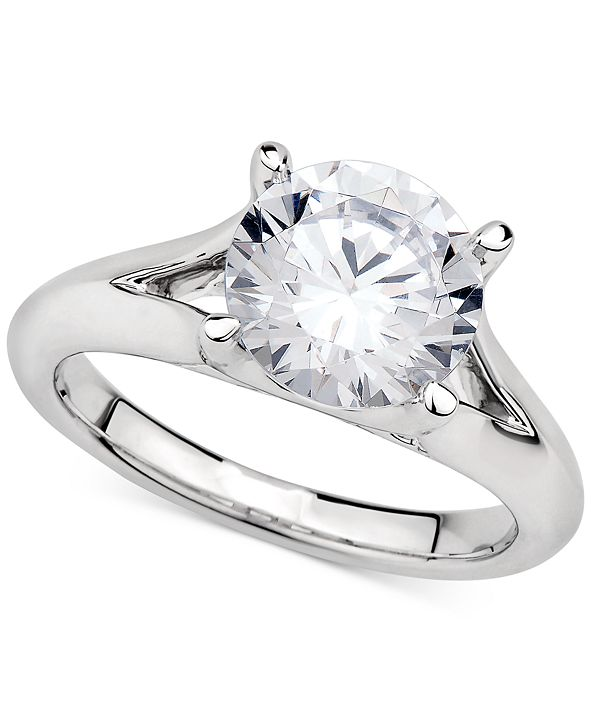 GIA Certified Diamonds GIA Certified Diamond Solitaire Ring (3 ct. t.w.) in 14k White Gold