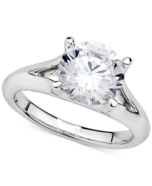 Gia Certified Diamond Solitaire Ring (3 ct. t.w.) in 14k White Gold