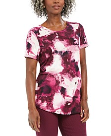 Paint-Print Scoop Neckline Top, Created For Macy's