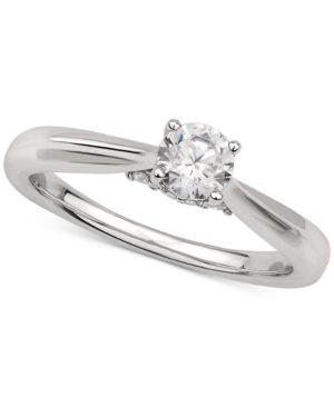 Gia Certified Diamond Solitaire Engagement Ring (1/2 ct. t.w.) in 14k White Gold