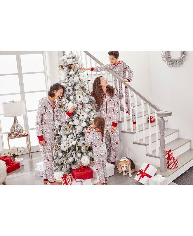 Family Pajamas Matching Family One-Piece Pajamas, Polar Bear Created For Macy's
