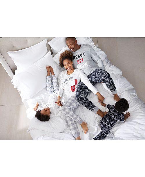 Family Pajamas Matching Bear Family and Ready Set Snow , Created For Macy's