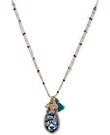 "Gold-Tone Pavé Elephant & Tassel 35"" Pendant Necklace, Created for Macy's"