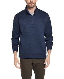 Weatherproof Vintage Men's Three-Button Fleece Pullover