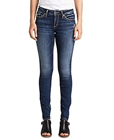 Mid-Rise Contoured Skinny Jeans