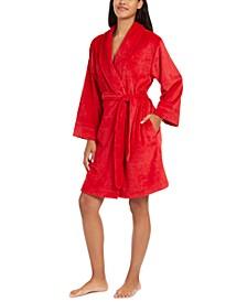 Women's Embossed Logo Plush Robe