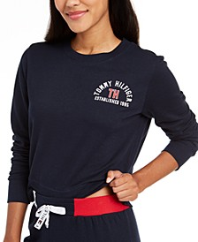 Women's French Terry Cropped Lounge Top