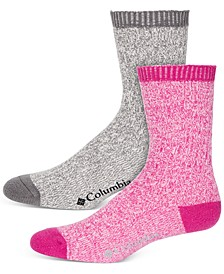 Women's 2-Pk. Super Soft Marled Rib Crew Socks