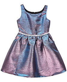 Big Girls Metallic Fit & Flare Dress