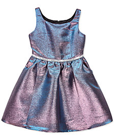 BCX Big Girls Metallic Fit & Flare Dress