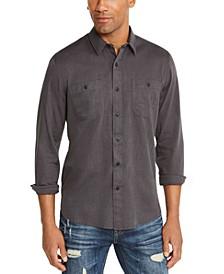 Men's Micro Herringbone Shirt, Created for Macy's
