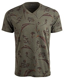 Men's Dry Botanical Graphic V-Neck T-Shirt, Created For Macy's