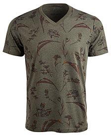 American Rag Men's Dry Botanical Graphic V-Neck T-Shirt, Created For Macy's