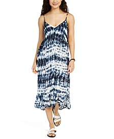Sleeveless Tie-Dye Cover-Up Dress