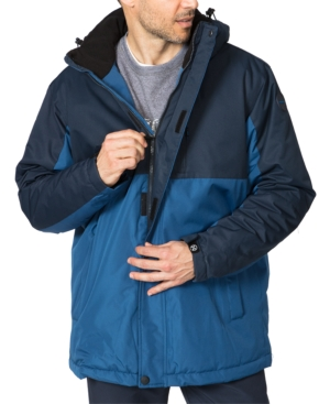 Hawke & Co. Outfitter Men's Big & Tall Colorblocked Parka In Blue Navy