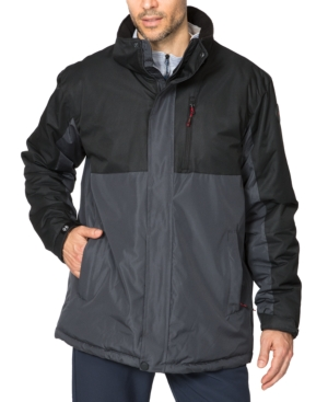 Hawke & Co. Outfitter Men's Big & Tall Colorblocked Parka In Graphite
