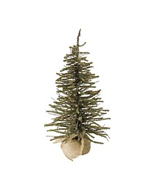 "18"" Warsaw Twig Artificial Christmas Tree in Burlap Base - Unlit"