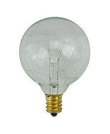 Pack of 25 Incandescent G50 Clear Christmas Replacement Bulbs