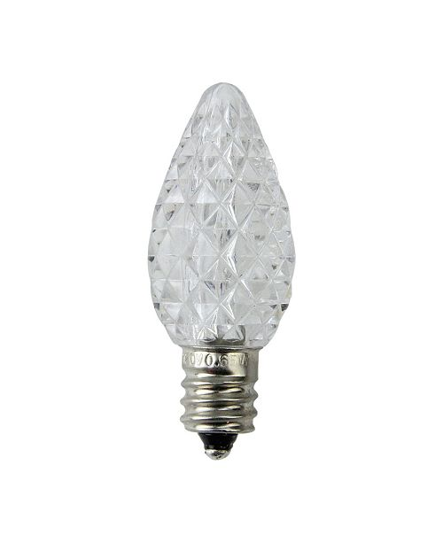 Northlight Pack of 25 Faceted LED C7 Pure White Christmas Replacement Bulbs