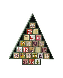 Plaid Decorative Tree Shaped Advent Christmas Calendar