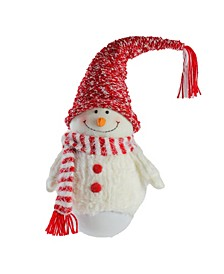 "18"" Tumbling Sam the Snowman with Red Hat and Scarf Christmas Decoration"