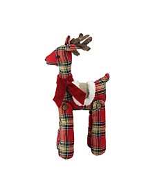 Plaid Standing Reindeer Christmas Decoration