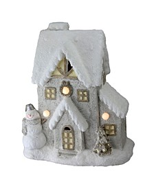 "14.5"" LED Lighted Musical House with Snowman Christmas Decoration"