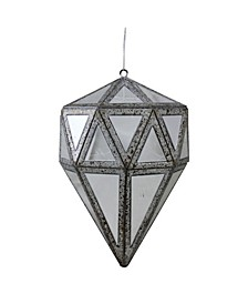"5.5"" Mirrored Geometric Drop Christmas Ornament"