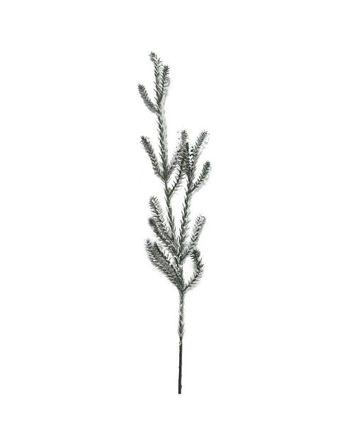 "Northlight 30"" Sparkling Snow Flocked Artificial Pine Christmas Branch Spray"