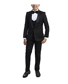 Little Boy's 5-Piece Slim Fit Shawl Tuxedo Set