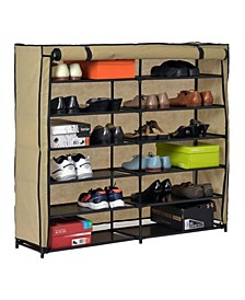 Shoe Organizer with Cover (24-Pair)