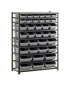 Steel Commercial Bin Shelving Unit