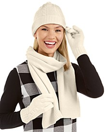 3-Pc. Cashmere Boxed Cable-Knit Set, Created For Macy's