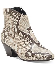 INC Women's Idra Block-Heel Booties, Created for Macy's