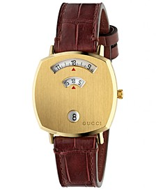 Grip Bordeaux Alligator Leather Strap Watch 35mm