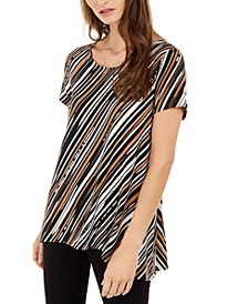 Striped Asymmetrical Top, Created for Macy's