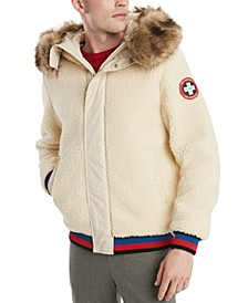 Men's Jowen Hooded Fleece Snorkel Jacket with Removable Faux-Fur Trim