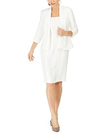 Open-Front Jacket & Square-Neck Sheath Dress