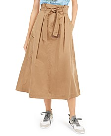 Cotton Belted Utility Skirt