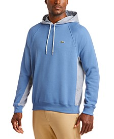 Men's Relaxed-Fit Colorblocked Tattersall Fleece Hoodie