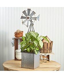 Two's Company Farm Windmill Planter