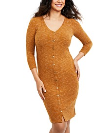Maternity Nursing Button-Front Dress