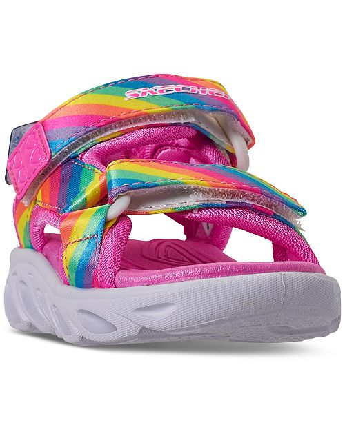 Skechers Toddler Girls S Lights Hypno-Splash Rainbow Lights Sport Sandals from Finish Line