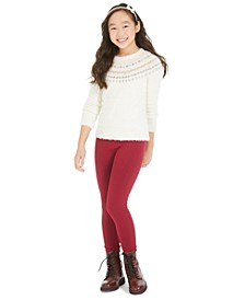 Big Girls Fair Isle Sweater & Leggings, Created For Macy's