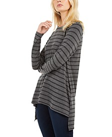 Striped High-Low Top, Created for Macy's