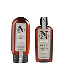 Solo Noir All Natural 2 Piece Shaving Kit, 4 Oz