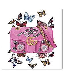 "Doll Memories - Butterfly Bag Canvas Art - 12"" x 12"" x 1.5"""