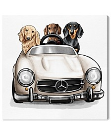 Strolling in Style Dachshunds Canvas Art Collection