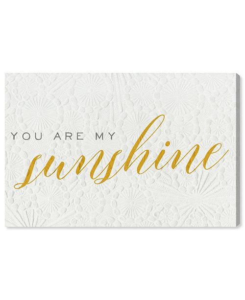 Oliver Gal You Are My Sunshine Canvas