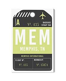 "Memphis Luggage Tag Canvas Art - 15"" x 10"" x 1.5"""